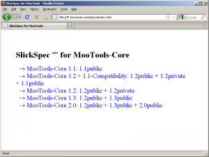 The MooTools test suite