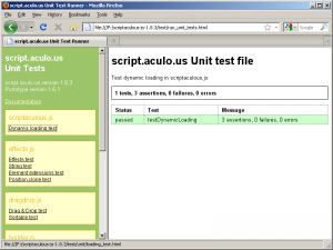 The script.aculo.us test suite