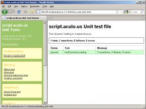 The script.aculo.us test suite